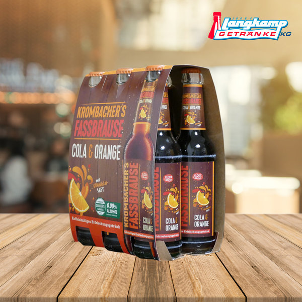 Krombacher Fassbrause Cola Orange 24x0,33